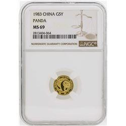 1983 China 5 Yuan Panda Gold Coin NGC MS69