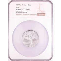 2019Mo Mexico Proof 2 Onza Silver Coin NGC PF70 Ultra Cameo