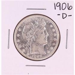 1906-D Barber Half Dollar Coin