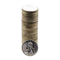 Roll of (40) Brilliant Uncirculated 1956-D Washington Quarter Coins