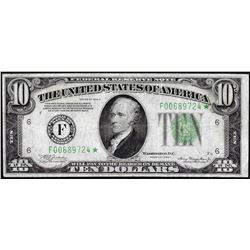 1934A $10 Federal Reserve Star Note Atlanta