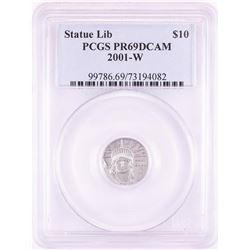 2001-W $10 Proof American Platinum Eagle Coin PCGS PR69DCAM