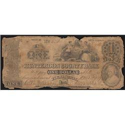 1859 $1 Hunterdon County Bank Obsolete Note