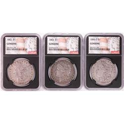 Lot of 1882, 1883, & 1884-O $1 Morgan Silver Dollar Coins NGC Genuine