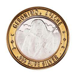 .999 Silver Geronimo Apache $10 Casino Limited Native American Series Gaming Token