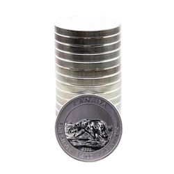 Roll of (17) Brilliant Uncirculated 2013 $8 Canada Polar Bear 1.5 oz. Silver Coins