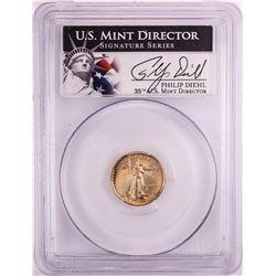1991-P Proof $5 American Gold Eagle Coin PCGS PR69DCAM Mint Director Signature