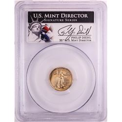 1991-P Proof $5 American Gold Eagle Coin PCGS PR69DCAM Mint Director Signature