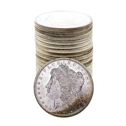 Roll of (20) Brilliant Uncirculated 1881-S $1 Morgan Silver Dollar Coins Nice Toning