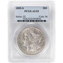 1892-S $1 Morgan Silver Dollar Coin PCGS AU53