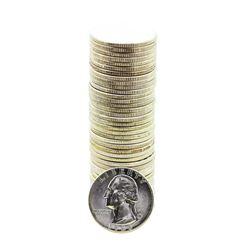 Roll of (40) Brilliant Uncirculated 1958 Washington Quarter Coins