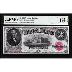 1917 $2 Legal Tender Note Fr.57 PMG Choice Uncirculated 64EPQ