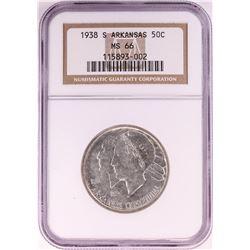 1938-S Arkansas Centennial Commemorative Half Dollar Coin NGC MS66