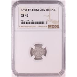 1631 KB Hungary Denar 'Madonna and Child' Coin NGC XF45