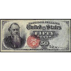 Fourth Issue Fifty Cents Stanton Fractional Currency Note