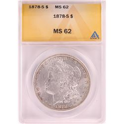1878-S $1 Morgan Silver Dollar Coin ANACS MS62
