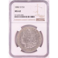 1882-O $1 Morgan Silver Dollar Coin NGC MS62
