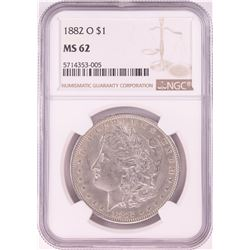1882-O $1 Morgan Silver Dollar Coin NGC MS62