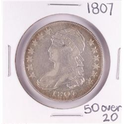 1807 50 over 20 Capped Bust Half Dollar Coin