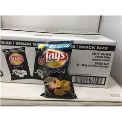Lays BBQ Potato Chips (32 x 60g)