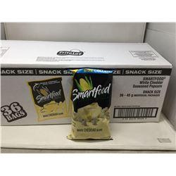 Smartfood White Cheddar Seasoned Popcorn (36 x 45g)