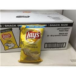 Lays Classic Potato Chips (32 x 60g)