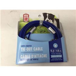 Dog-it Vinyl Coated Tie-out Cable (15ft)