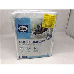 Sealy Cool Comfort Fitted Mattress Protector- Queen Size
