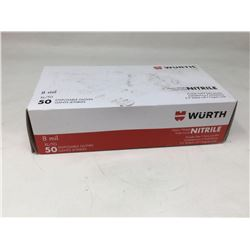 Wurth Nitrile Heavy Weight Powder Free Gloves