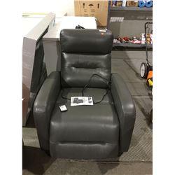 Leather Power Recliner w/ Manual Headrest (Retailer Return)