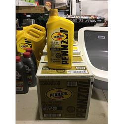 Case of Pennzoil Gold / Synthetic Blend 5W-20 Motor Oil (6 x 946mL)