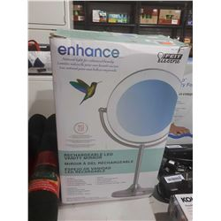 Enhance Rechargeable LED Vanity Mirror (Retailer Return)