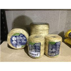 Ben-Mor 2 Ply Sisal Rope 1400' and 300' Lot of 4
