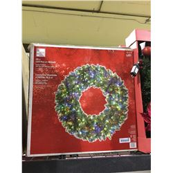 "Home Accents Holiday 30"" LED Pre-Lit Wreath"