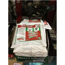 "Case of Santa Solution Degradable Large Heavy-Duty Christmas Tree Skirt and Removal Bags (144"" Circ."