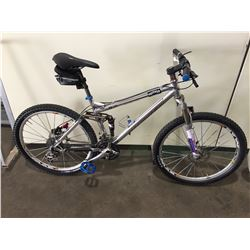 SILVER TURNER 27-SPEED FULL SUSPENSION MOUNTAIN BIKE W/FULL DISC BRAKES