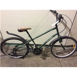 GREEN EVERYDAY 21-SPEED CRUISER BIKE