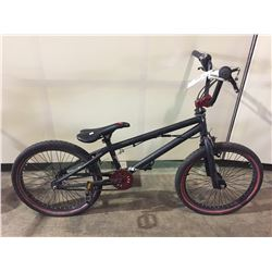 BLACK NO NAME SINGLE SPEED BMX BIKE W/ GYRO BRAKING SYSTEM