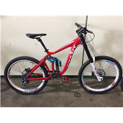 RED GIANT 9-SPEED FULL SUSPENSION MOUNTAIN BIKE W/ FULL DISC BRAKES