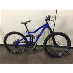 BLUE AVANTI 8-SPEED FULL SUSPENSION MOUNTAIN BIKE W/ FULL DISC BRAKES