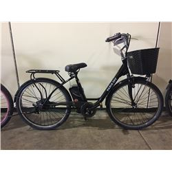 BLACK PARIS SINGLE SPEED 36V ELECTRIC BIKE