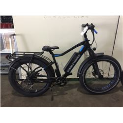 BLACK VOLTBIKE 7-SPEED FRONT SUSPENSION ELECTRIC BIKE W/ FULL DISC BRAKES