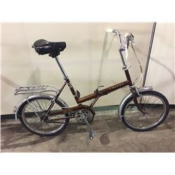 BROWN TWENTY SINGLE SPEED COLLAPSIBLE BIKE