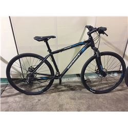 BLACK NORTHROCK 21-SPEED FRONT SUSPENSION HYBRID BIKE W/ FULL DISC BRAKES