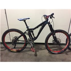BLACK KNOLLY 10-SPEED FULL SUSPENSION MOUNTAIN BIKE W/ FULL DISC BRAKES