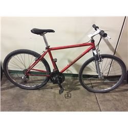 RED SPECIALIZED ROCK HOPPER 21-SPEED FRONT SUSPENSION ROAD BIKE