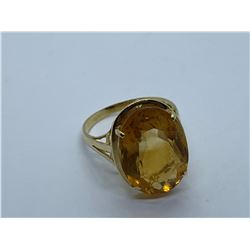 14K RING WITH CITRINE