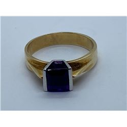 10K RING WITH AMETHYST