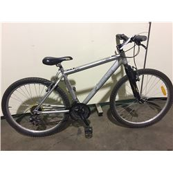 SILVER RALEIGH 21-SPEED FRONT SUSPENSION MOUNTAIN BIKE