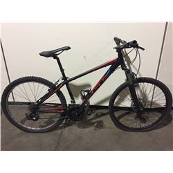 BLACK/RED GT 21-SPEED FRONT SUSPENSION MOUNTAIN BIKE W/ FRONT DISK BRAKE